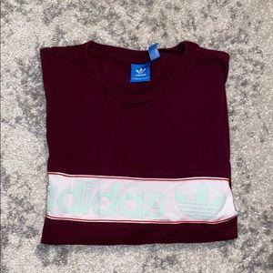 Adidas maroon top